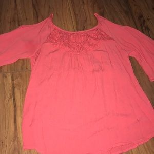 Tops - Pink mid sleeve shirt